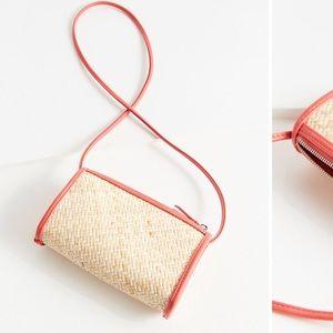 UO Connie Straw Crossbody Bag